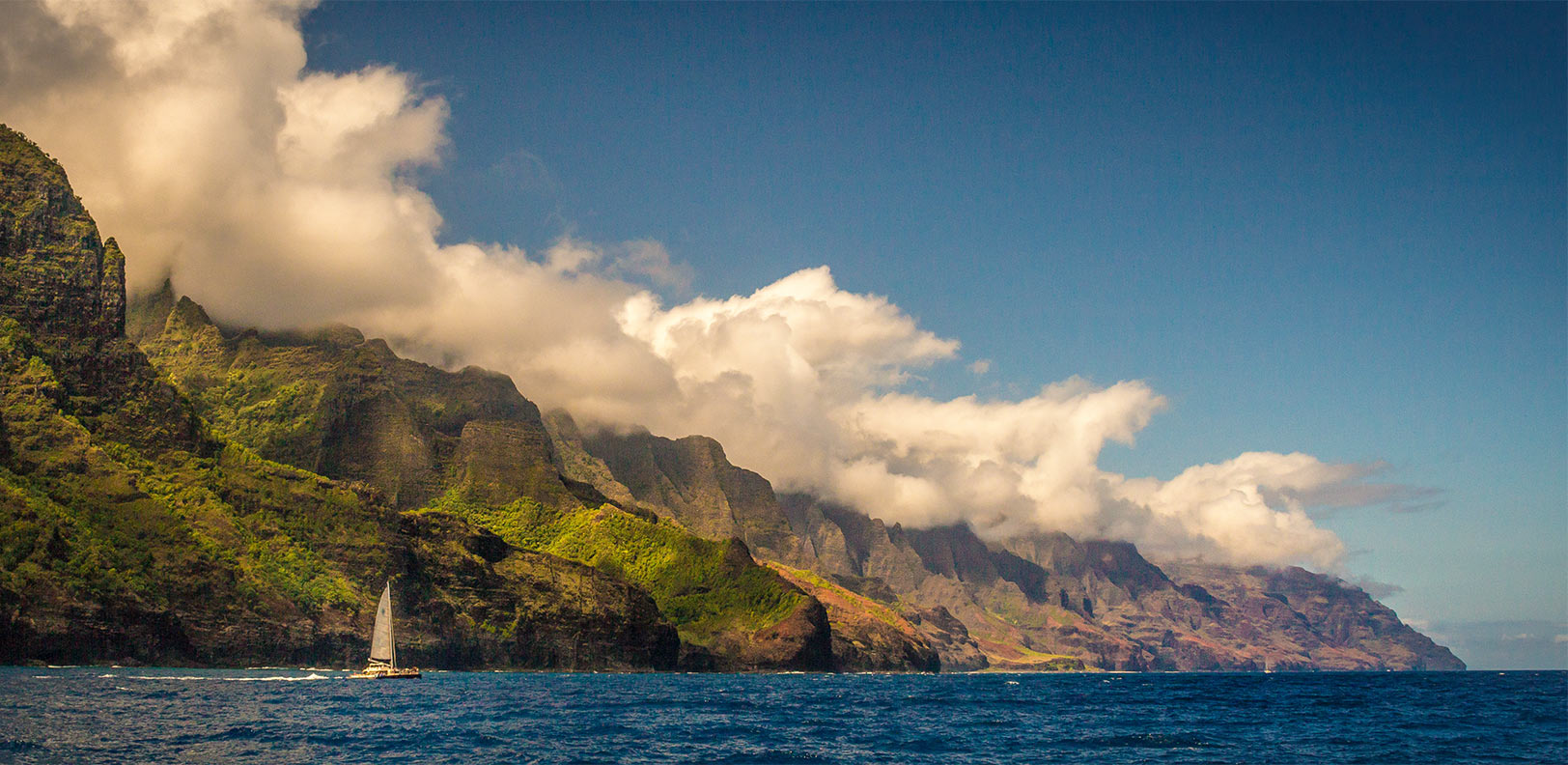 The coastline while visiting Napali